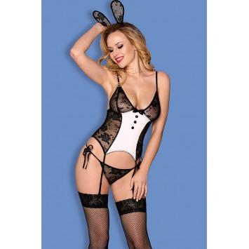 "Bunnybody  ""Playgirl"" – Schwarz/Weiß"