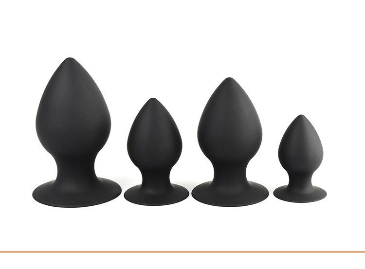Analplugs in verschiedenen Größen – Schwarz