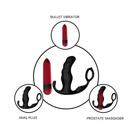 Anal und Vagina Vibrator mit Fernbedienung Knight