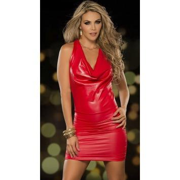 Raffiniertes rückenfreies Minikleid – Rot